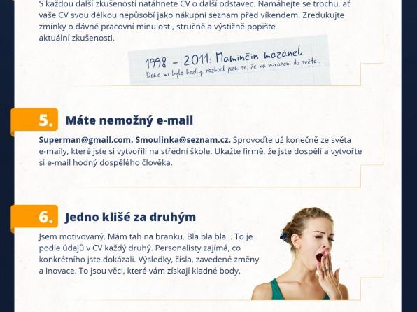 10 fatálních chyb, kterými zabíjíte své CV