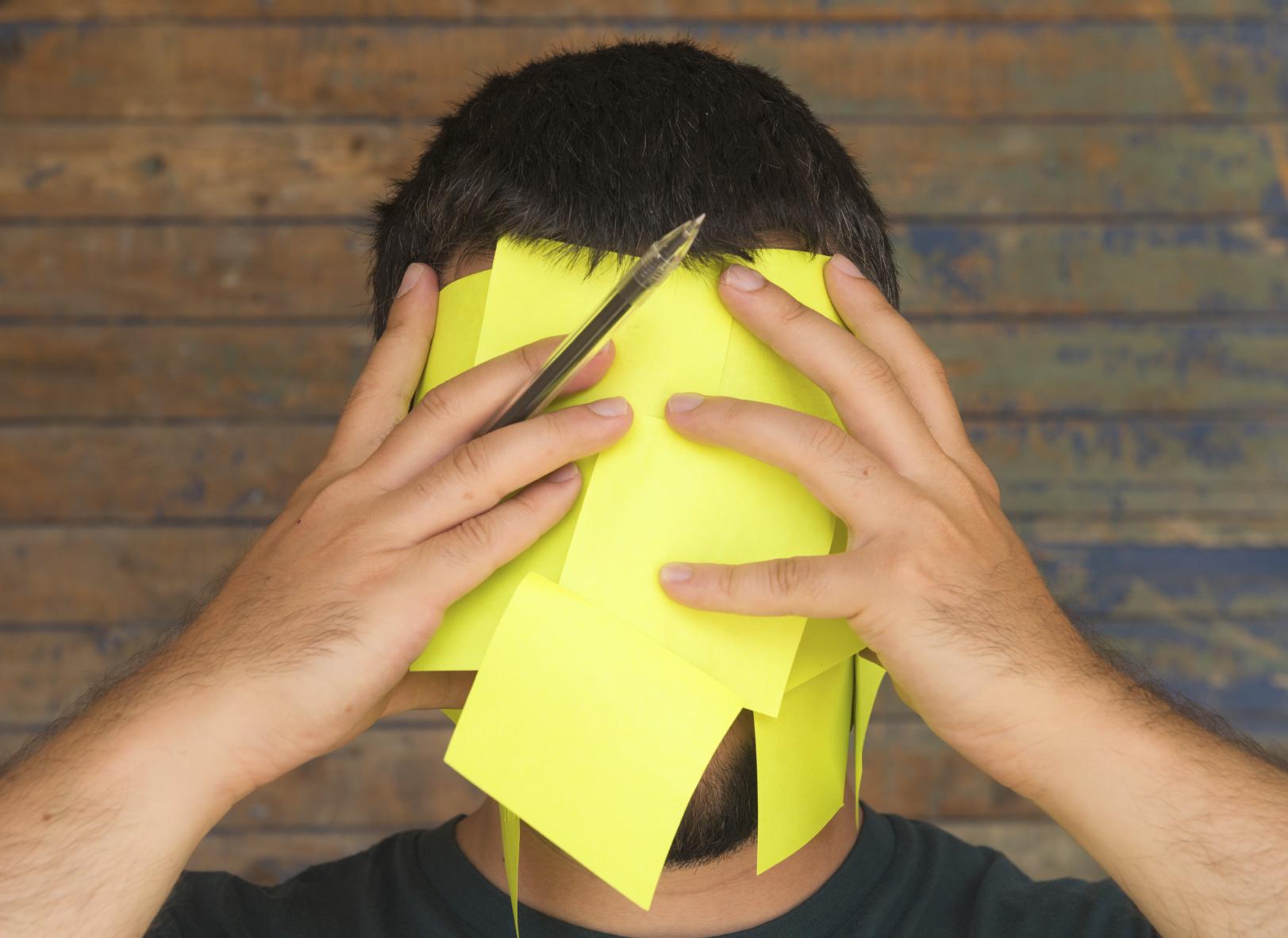 Man Overwhelmed